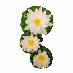Ubbink 3 szt. dekoracyjne lilie wodne, białe