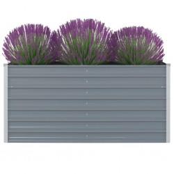 stradeXL Raised Garden Bed 160x80x77 cm Galvanised Steel Grey