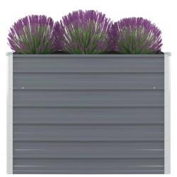 stradeXL Raised Garden Bed 100x100x77 cm Galvanised Steel Grey