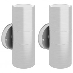 stradeXL Outdoor Wall Lights 2 pcs Stainless Steel Up/Downwards
