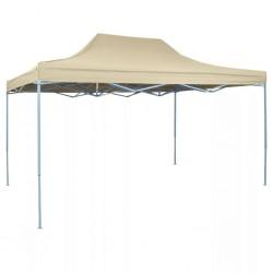 stradeXL Rozkładany namiot, pawilon 3 x 4,5 m, kremowy