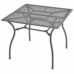 stradeXL Stół ogrodowy, 90x90x72 cm, stalowa siatka
