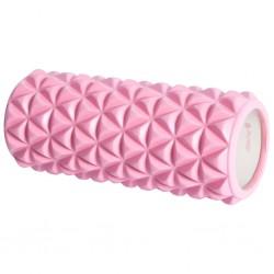 Pure2Improve Wałek do jogi, 33 x 14 cm, różowo-biały