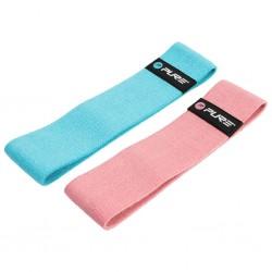 Pure2Improve Zestaw gum do ćwiczeń, niebieska i różowa