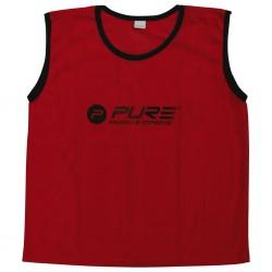 Pure2Improve Kamizelki treningowe, 4 szt., dziecięce, czerwone