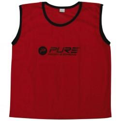 Pure2Improve Kamizelki treningowe, 4 szt., dla dorosłych, czerwone