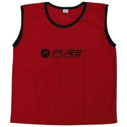 Pure2Improve Kamizelki treningowe, 4 szt., mini, czerwone