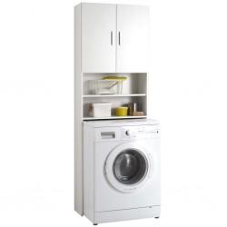 FMD Washing Machine Cabinet with Storage Space White