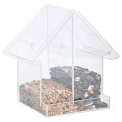 Esschert Design Karmnik w kształcie domku, łączony, akrylowy