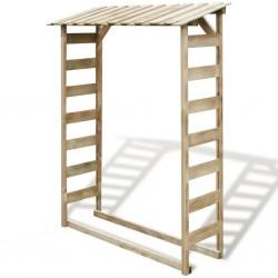 stradeXL Firewood Storage Shed 150x44x176 cm Impregnated Pinewood