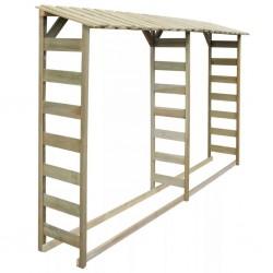stradeXL Double Firewood Storage Shed 300x44x176 cm Impregnated Pinewood