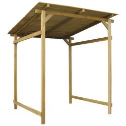stradeXL Garden Canopy Impregnated Pinewood 170x170x180 cm