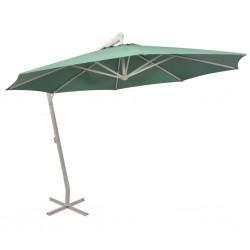 stradeXL Parasol ogrodowy, wiszący, 350 cm, aluminiowy, piaskowy