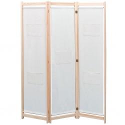 stradeXL Parawan 3-panelowy, szary, 120x170x4 cm, tkanina