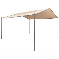 stradeXL Altana/namiot ogrodowy, 4x4 m, stal, beżowy