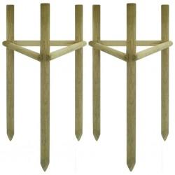 stradeXL Paliki do drzew, 2 komplety., impregnowane drewno, 50x45x150