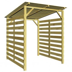 stradeXL Garden Firewood Storage Shed Impregnated Pinewood