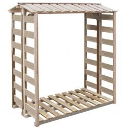 stradeXL Firewood Storage Shed 150x100x176 cm Impregnated Pinewood