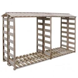 stradeXL Firewood Storage Shed 300x100x176 cm Impregnated Pinewood
