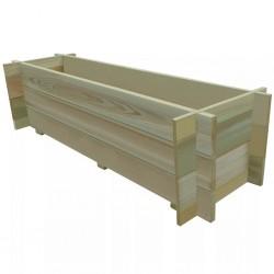 stradeXL Skrzynia ogrodowa, impregnowane drewno sosnowe, 120 cm