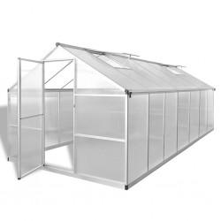 stradeXL Greenhouse Reinforced Aluminium 10.53 m²