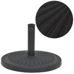 stradeXL Podstawa do parasola, okrągła, czarna, 14 kg, z żywicy