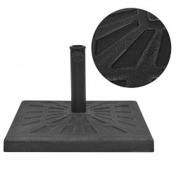 stradeXL Podstawa do parasola, kwadratowa, czarna, 19 kg, żywica