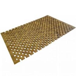 stradeXL Mata łazienkowa, drewno akacjowe, 80x50 cm, mozaika