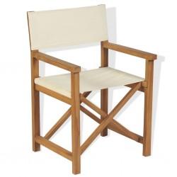 stradeXL Folding Director's Chair Solid Teak Wood
