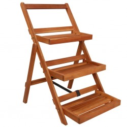 stradeXL 3-Tier Plant Stand 50x63x80 cm Solid Acacia Wood