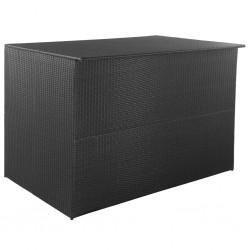 stradeXL Skrzynia ogrodowa, czarna, 150 x 100 x 100 cm, rattan PE