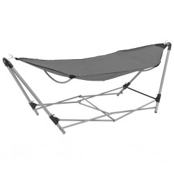 stradeXL Hammock with Foldable Stand Grey