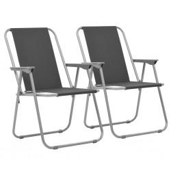 stradeXL Składane krzesła turystyczne, 2 szt., 52 x 59 x 80 cm, szare