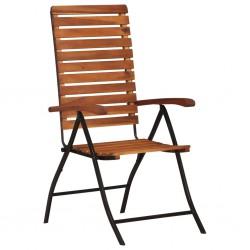 stradeXL 2 pcs Reclining Garden Chairs Solid Acacia Wood