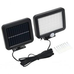 stradeXL Lampa solarna z czujnikiem ruchu, białe LED