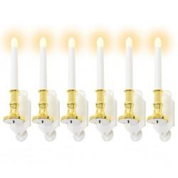 stradeXL Lampy solarne w kształcie świeczek, 6 szt., ciepłe białe LED