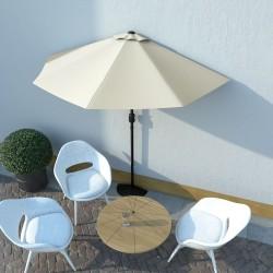 stradeXL Balcony Parasol with Aluminium Pole Sand 270x135 cm Half