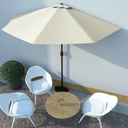 stradeXL Balcony Parasol with Aluminium Pole Sand 300x150 cm Half