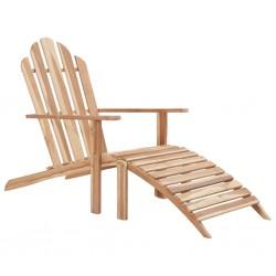 stradeXL Adirondack Chair with Footrest Teak