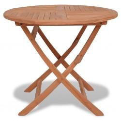 stradeXL Składany stół ogrodowy, 85x76 cm, lite drewno tekowe