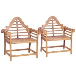 stradeXL Garden Chair 2 pcs 91x62x102 cm Solid Teak