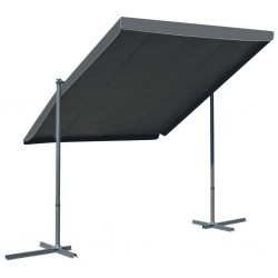 stradeXL Gazebo with Tiltable Retractable Roof 350x250x225 cm Anthracite