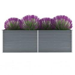 stradeXL Garden Raised Bed Galvanised Steel 240x80x77 cm Grey