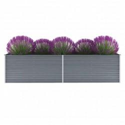 stradeXL Garden Raised Bed Galvanised Steel 320x80x77 cm Grey