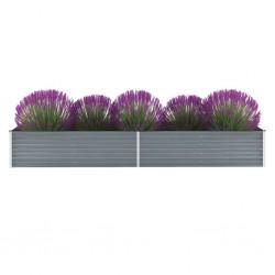 stradeXL Garden Raised Bed Galvanised Steel 320x80x45 cm Grey