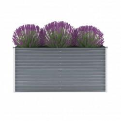 stradeXL Garden Raised Bed Galvanised Steel 160x40x77 cm Grey