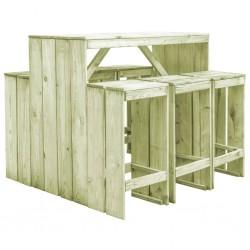 stradeXL 7-częściowy ogrodowy zestaw jadalniany, impregnowana sosna