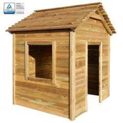 stradeXL Ogrodowy domek do zabawy, 123 x 120 x 146 cm, drewno sosnowe