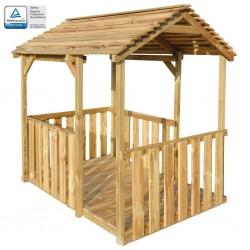 stradeXL Ogrodowy domek do zabawy, 122,5 x 160 x 163 cm, drewno sosnowe