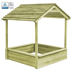 stradeXL Outdoor Playhouse with Sandpit 128x120x145 cm Pinewood